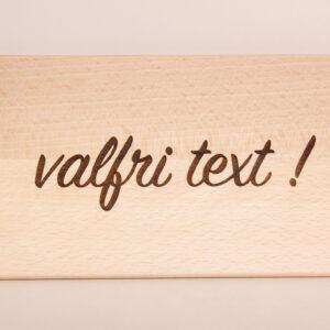 serveringsbräda 22x12cm, med valfri text som gravyr
